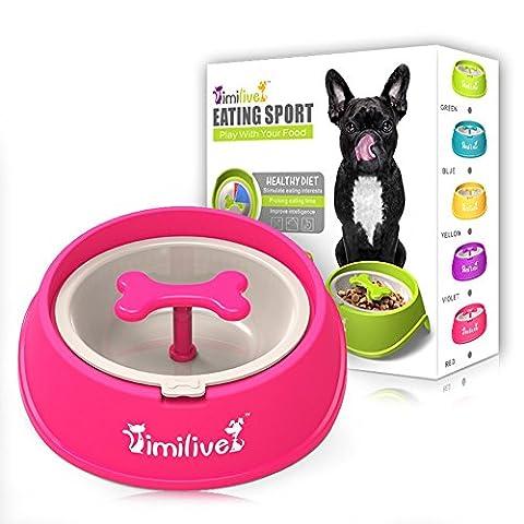 Vaxuia puzzle interactif pour animal domestique Mangeoire rotatif en forme d'os Chien lent manger pour animal domestique Chien Bol Sain Motif bol