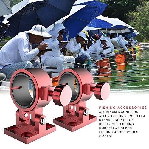 Adjustable Umbrella Stand Mount Support, Fishing Box Umbrella Holder Bracket Aluminium Alloy, Fishing Chair Umbrella Stand Holder for Fishing Box -
