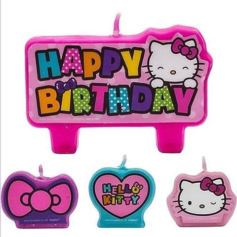 Hello Kitty 'Rainbow' Mini vela Set (4piezas)