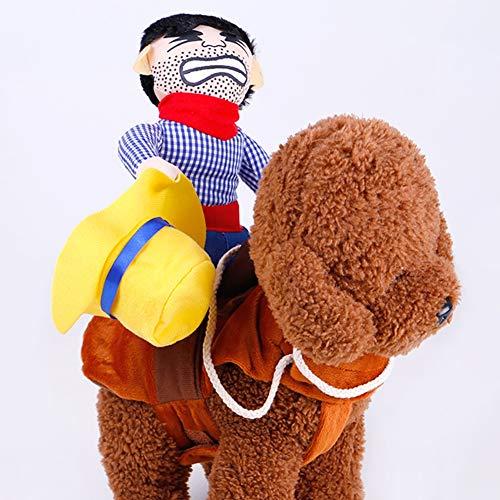 Hund Kostüme Pet Kostüm Pet Halloween Suit Cowboy Rider ()
