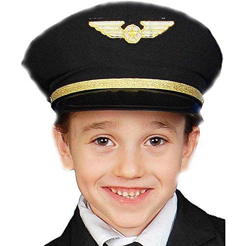 Dress Up America 401.0 Airline Pilot Hut-Kinder Kostüm Zubehör, Einheitsgröße (Pilot Kostüm Airline Kids)