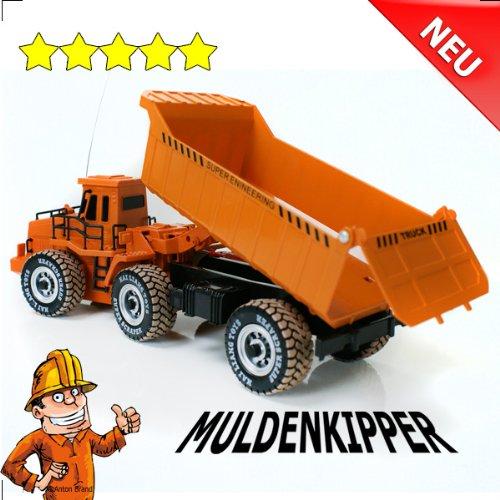 RC Auto kaufen LKW Bild: RC Muldenkipper Kipplader Bagger ferngesteuertes Baufahrzeug Super Truck 27 MHz V&V ®Noyan*