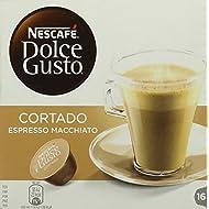 NESCAFÉ Dolce Gusto Cortado Espresso Macchiato Coffee Pods, 16 Capsules (16 Servings)