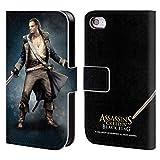 Head Case Designs Offizielle Assassin's Creed Benjamin Hornigold Schwarze Fahne Darsteller Brieftasche Handyhülle aus Leder für iPhone 4 / iPhone 4S