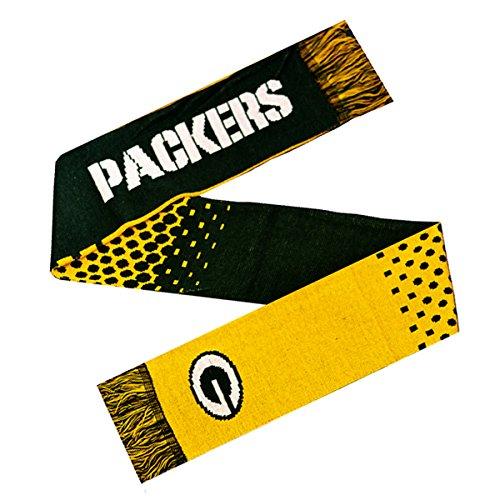 Offizieller Fan-Schal, Design: NFL American Football, 10Gauge, Strick, mit Team-Logo (verschiedene Mannschaften zur Auswahl), Green Bay Packers, 148 x 20cm (Approx) (Knit Usa-team Hat)