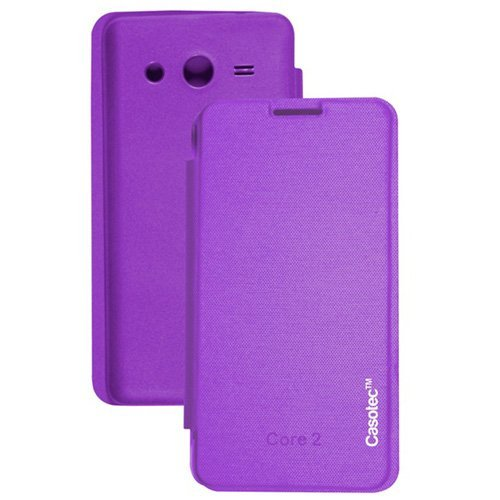 Casotec Premium Flip Case Cover for Samsung Galaxy Core 2 G355H - Purple  available at amazon for Rs.175