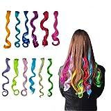 Highlight Haarverlängerungen Multi-Farben Party Highlight Clip auf Haar Salon Versorgung Curly Perücken für Frauen 50 cm / 20inch (12 pcs lockig)