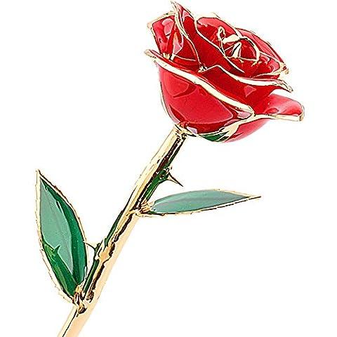 ZJchao Love Forever 24k vergoldet Echt Rose, Geschenk der Liebe