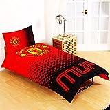Man Utd Reversible Fade Single Duvet Set (Duvet 135 x 200cm) (Pillow Case 50 x 75cm)