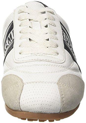 Bikkembergs Soccer 106, Unisex Low-neck Sneaker-adult White (blanconegro)