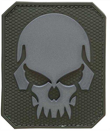 Mil-Tec Patch 3D Skull PVC m. Klett Large Oliv