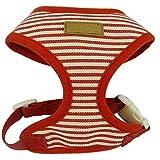 Hundeleine Stripe Sailor Series Brustgurt Haustier Brustgurt Hundeweste Zuggurt Hundetraining Leine (Farbe : Red, Größe : X-Small)
