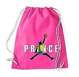 TRVPPY Baumwoll Turnbeutel Sportbeutel Modell Fresh Prince Farbe Pink