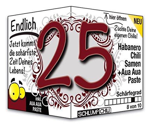 Endlich 25 – das witzige Geburtstagsgeschenk für junge Männer und Frauen :)