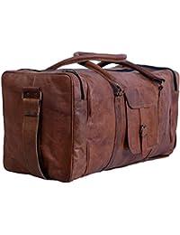 e1eebb612846 Pranjals house - Vintage Handcrafted Leather Duffle Bag - Overnight Bag -  Weekend Bag - Leather