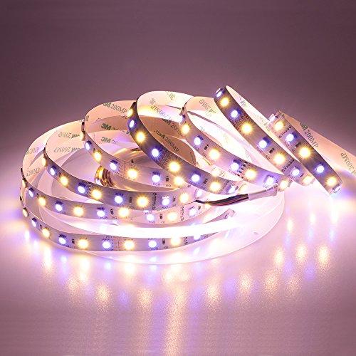 LTRGBW Super Helle 5050 SMD 24V RGBWW LED-Streifen-Beleuchtung 5M 360LEDs 5050 SMD Flexible RGBW Band-Lampe RGB-Warmweiß (Licht-lampen Rückseite Led Blaue)