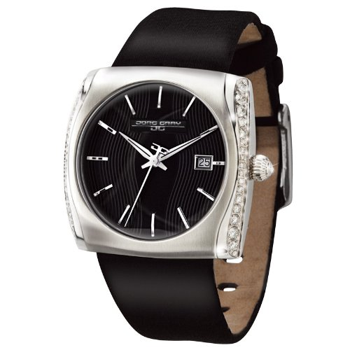 Jorg Gray JG5600–jg2300–11Diamond Reloj para Mujer Swiss Movement Negro Correa de Piel