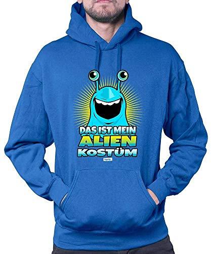 HARIZ Herren Hoodie Das Ist Mein Alien Kostüm 2 Karneval Kostüm Plus Geschenkkarten Royal Blau ()