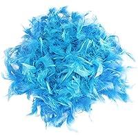 Azul de peluche Boa de plumas para decoración de fiesta de peluche disfraz 201,17 cm