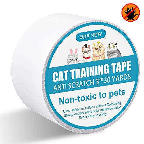 I-Pure Katzen-Kratz-Abwehrband - Anti-Kratz-Trainingsband - 7,6 cm x 9 Meter doppelseitiges Teppich-Schutzband für Teppiche, Möbel, Couch, Tür