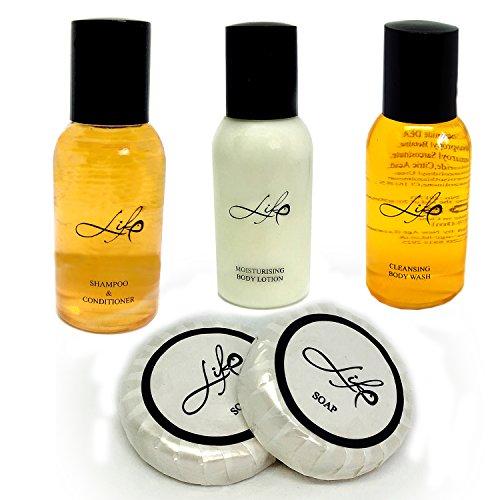 Vie produits de toilette pour hôtel, Guest House et du B & B. Shampoing et après-shampoing, gel douche, lotion pour le corps et savon X 20 sets. gratuit UK P & P