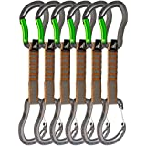 Fusion Fusion Climb Techno Zoom Wire & Bent Gate Key Nose Carabiners Quickdraws WG/BG-11 CM 6 Pack Set