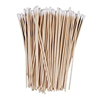 Yeah67886 Single Tip Cleaning Cotton Buds Swabs with Wooden Handle