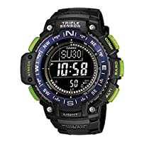Casio Triple Sensor Watch For Men Digital Dial Resin Band - Sgw-1000-2Bdr, Black Band
