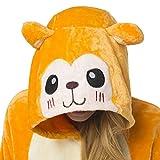 Katara 1744 Witziger Onesie Jumpsuit, Affen-Kostüm für den Fasching, Karneval, Party, Hausanzug in Orange, Cosplay Einteiler, Sleepsuit mit Kapuze, lustiges Tier-Outfit, flauschig und bequem, Äffchen-Pyjama - 5