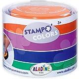 Aladine - Stampo Colors Carnaval - Encreurs Taille XL de Couleur - Encre Lavable - Activités Manuelles et Loisirs Créatifs po