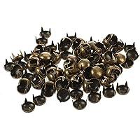 remache redondo - TOOGOO(R) 100 pzs 7mm Remache redondo Remaches pernos decorativos de bronce de cono DIY Artesania