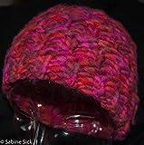 Stickmütze pink..schöne warme Strickmütze mit der Hauptfarbe pink und orange schick und frech für die kalte Jahreszeit