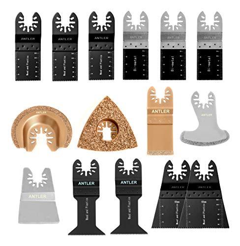 QAB15CBB Antler Sägeblätter Combo B kit mix Schnellspanner Klingen Multitool Oszillierwerkzeug-Zubehör (Packung mit 15)