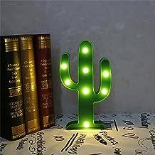 SPECOOL 3D LED Cactus Light SPECOOL Lámpara de mesa de noche linda Luz para la habitación de los niños Dormitorio Fiesta de bienvenida Decoraciones para el hogar Verde