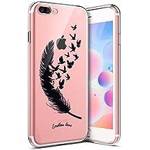 coque iphone 8 plus silicone plume