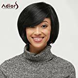 WOMENS LADIES SHORT BOB WIG FANCY DRESS COSPLAY WIGS POP PARTY COSTUME (Black)