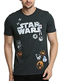 Star Wars Men's Printed Regular Fit T-Shirt