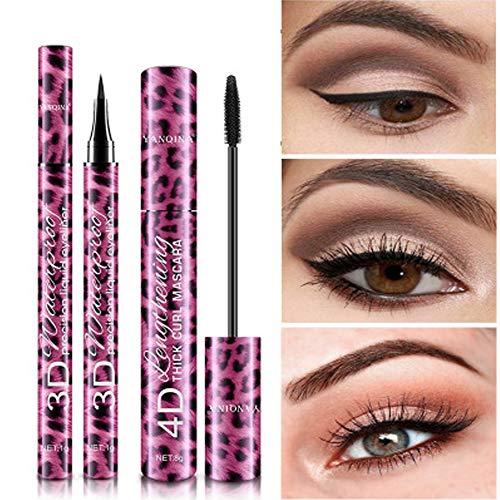 Ruimada Eyeliner Mascara 2 In 1 Set Schwarz Wasserdicht Schnell Trocknend Natürlich Anhaltende Weibliche Mädchen Meine Pecfect Augen