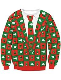 Sudaderas Navideñas Hombre Sudadera Navidad Estampadas Jersey Mujer Sueter  Navideño Reno Sweaters Pullover Cuello Redondo Largas Chica… 8f39daf5c161