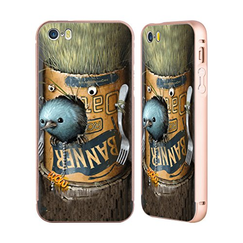 Ufficiale Jason Limon Catturato Random Oro Cover Contorno con Bumper in Alluminio per Apple iPhone 5 / 5s / SE Refusuffix 09