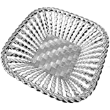 Line N Curves New Christmas Gifting Decorative Basket, Wedding Gift Basket For Bride, Trousseau Gifting, Decorative Platter (Pack Of 2 Basket In Silver Color) (Silver)