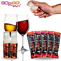 SO2GO Wine Headache Prevention Kit -Wine Allergy Sensitivity Sulfite Remover Better Than Hangover Prevention Remedies & Wine Filters Stops Red Wine Headaches Nausea IBS (Combo Pack)