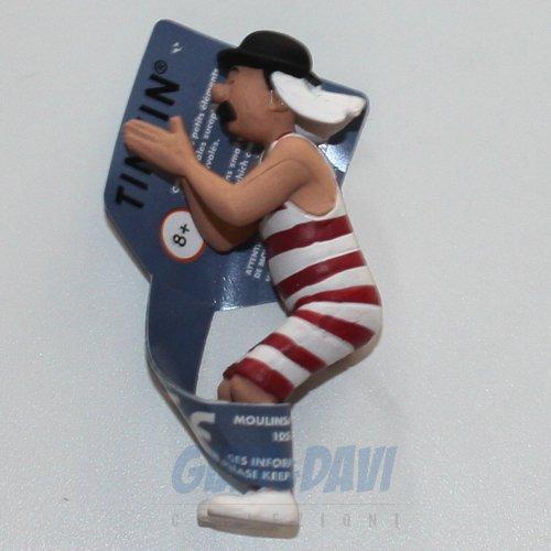 Tim und Struppi - Schultze im Badeanzug PVC-Figur, 6 cm (small)