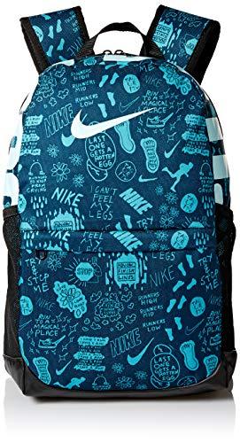 Nike Y Nk Brsla Bkpk - Aop Su19 - nightshade/black/teal tint, Größe:- (Nike Rucksack Teal)