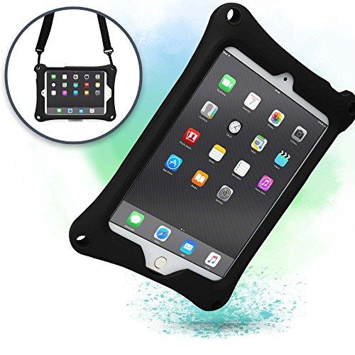 Apple iPad Mini 4 3 2 1 Schutzhülle Tragegurt Cooper Bounce Strap Tragehülle mit verstellbarem Standfuß, robust, stoßfest und sturzfest – für Erwachsene und Kinder (Schwarz)
