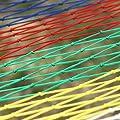 MMM& Nylon Seil Hängematte Mesh Farbe Sticks Komfortable Outdoor Freizeit Swing 200 * 80cm von ohshop - Gartenmöbel von Du und Dein Garten