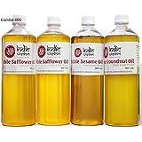 Combo Oil: Safflower Oil, Sesame Oil, Groundnut Oil