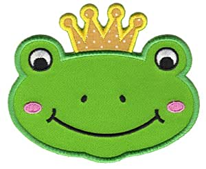 PatchMommy Ecusson Brode Patch Thermocollant, Grenouille Prince - Enfants Bebe