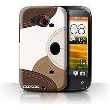 Carcasa/Funda STUFF4 dura para el HTC Desire C / serie: Efecto de la puntada de animales - Perro