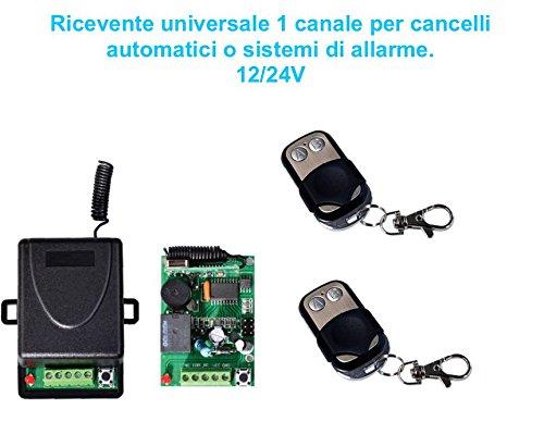 RICEVENTE 12 CANALI PER APRI CANCELLI AUTOMATICI PIU 1 RADIOCOMANDO 433 MHz